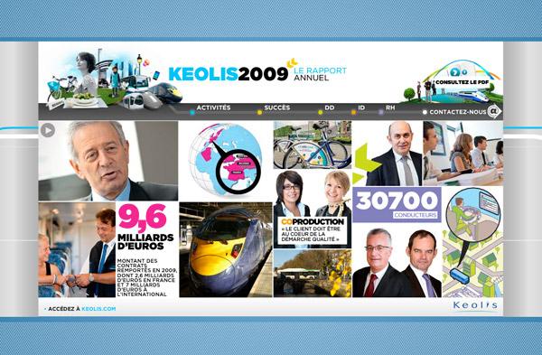 Keolis rapport annuel 2009
