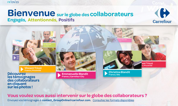 Carrefour globe des collaborateurs