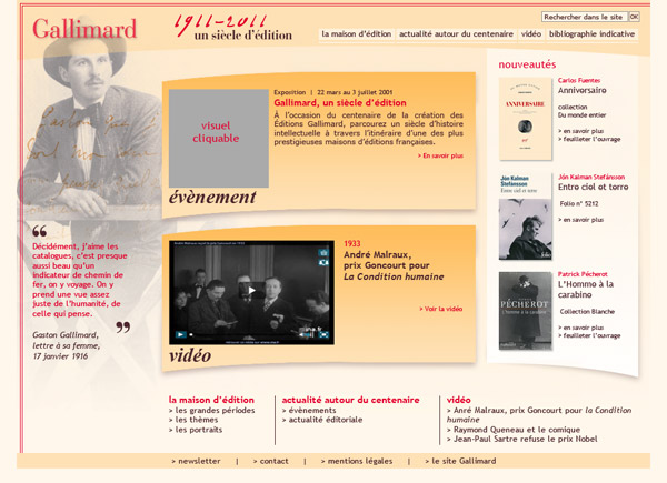 Gallimard centenaire