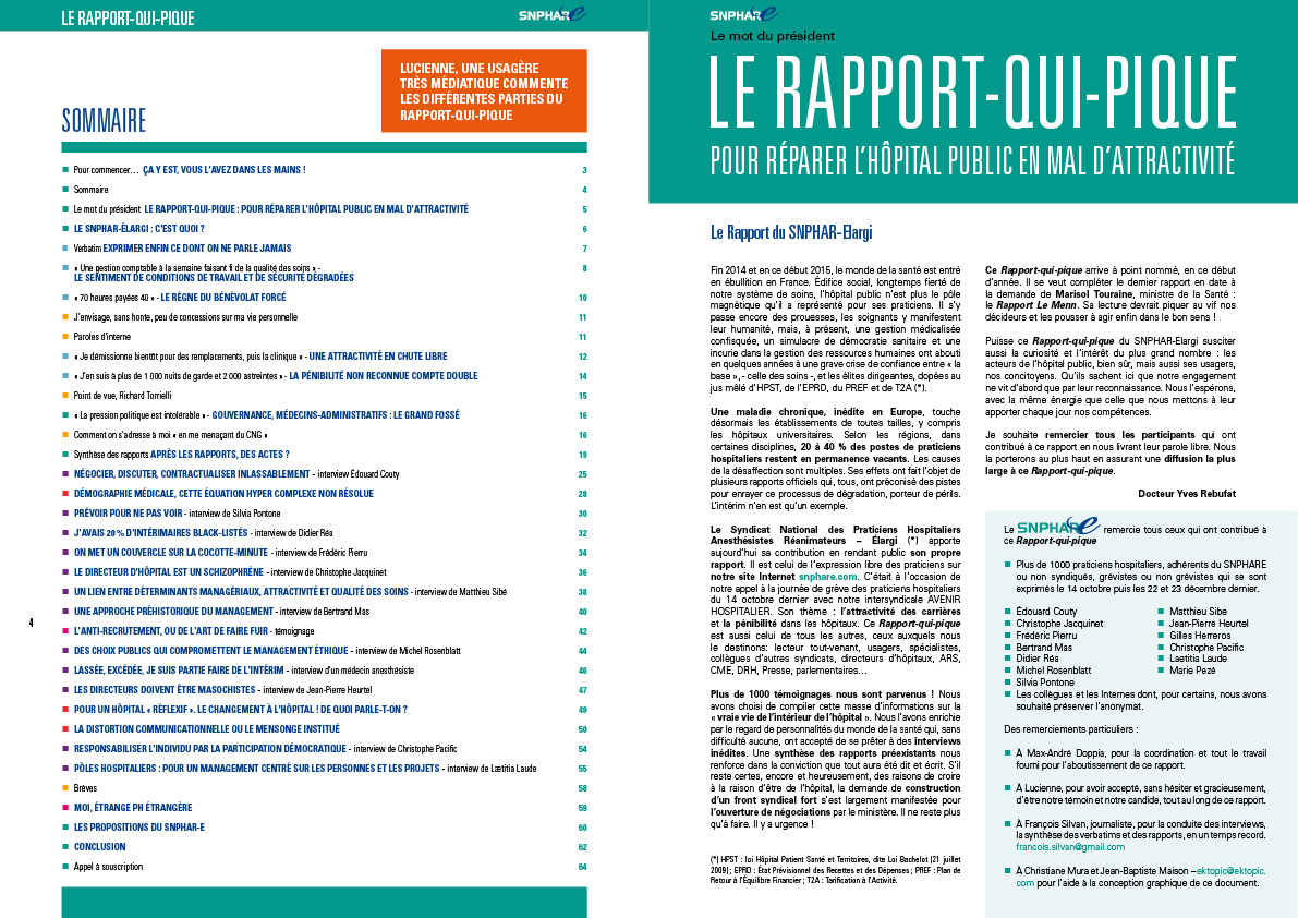le Rapport Qui Pique pages 4-5