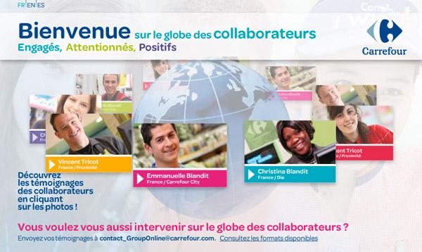 Carrefour globe des collaborateurs